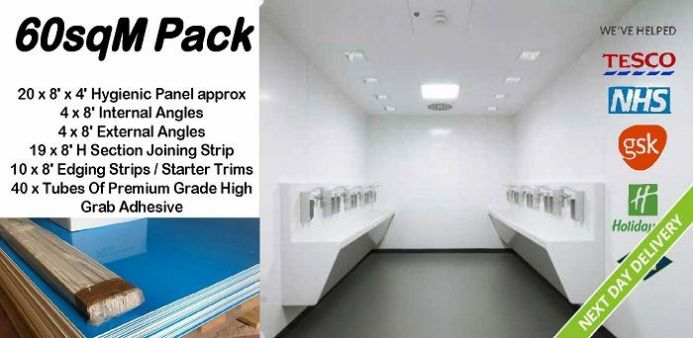 Hygienic White Pack 60 sqM